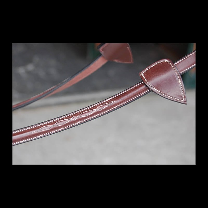 Dy'on Rubber Reins-Leather Loops