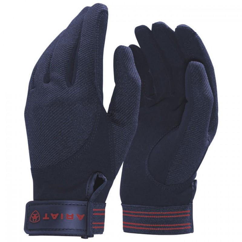 Ariat Tek Grip Riding Gloves Navy
